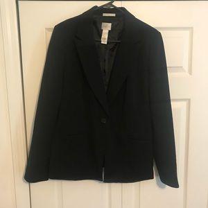 EMMA JAMES black and pinstripes blazer